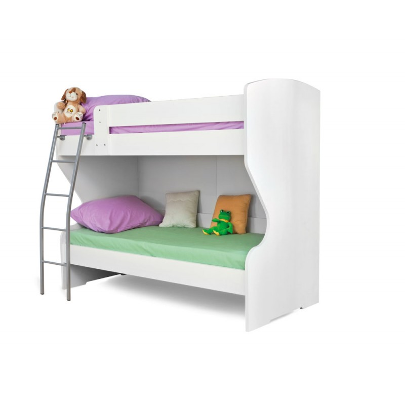 """Κουκέτα κρεβάτι """"HAPPY NA SPRAT"""" σε χρώμα λευκό 97x205x180"""