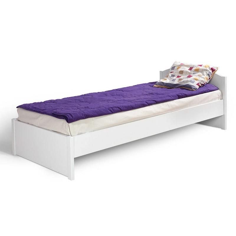 """Κρεβάτι """"HAPPY KR90"""" μονό σε χρώμα λευκό 95x208x63"""