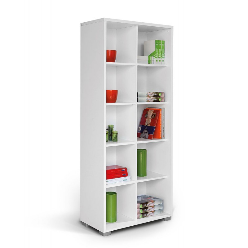 """Βιβλιοθήκη """"HAPPY V POL"""" σε χρώμα λευκό 80x38x190"""