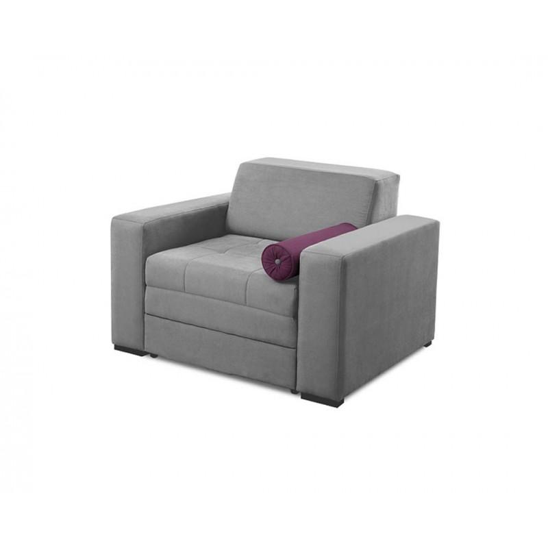 """Πολυθρόνα-κρεβάτι """"LIVING"""" υφασμάτινη σε χρώμα γκρι 115x101x83"""