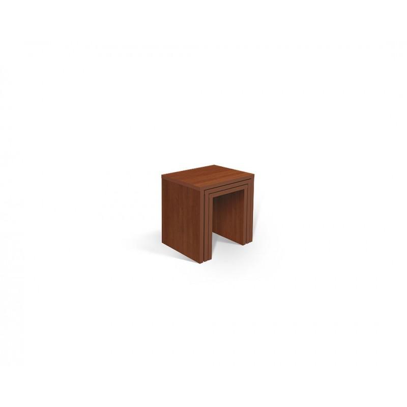 """Σετ τραπεζάκια 3τμχ """"PIKOLO 3D"""" σε χρώμα κερασί 45x38x48"""