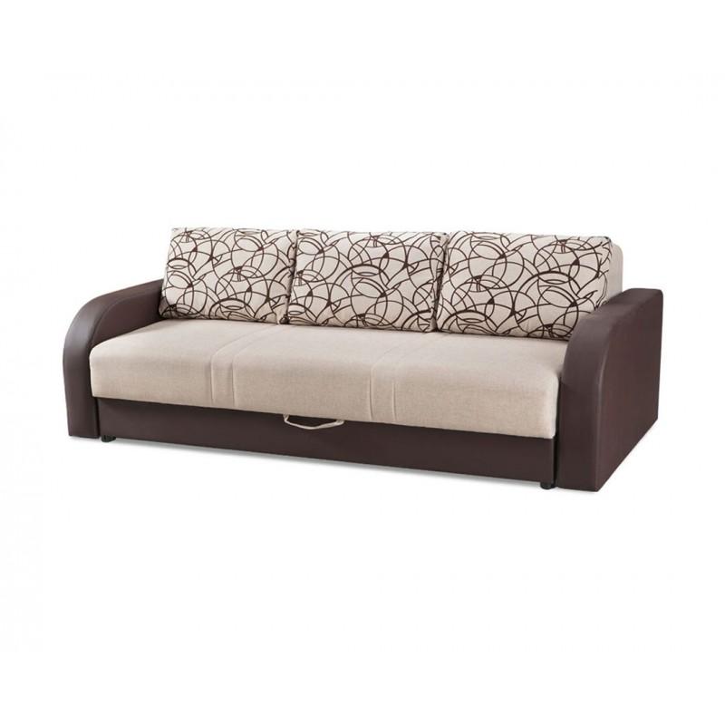 """Καναπές-κρεβάτι """"SRNA"""" τριθέσιος υφασμάτινος σε καφέ χρώμα 230x103x82"""