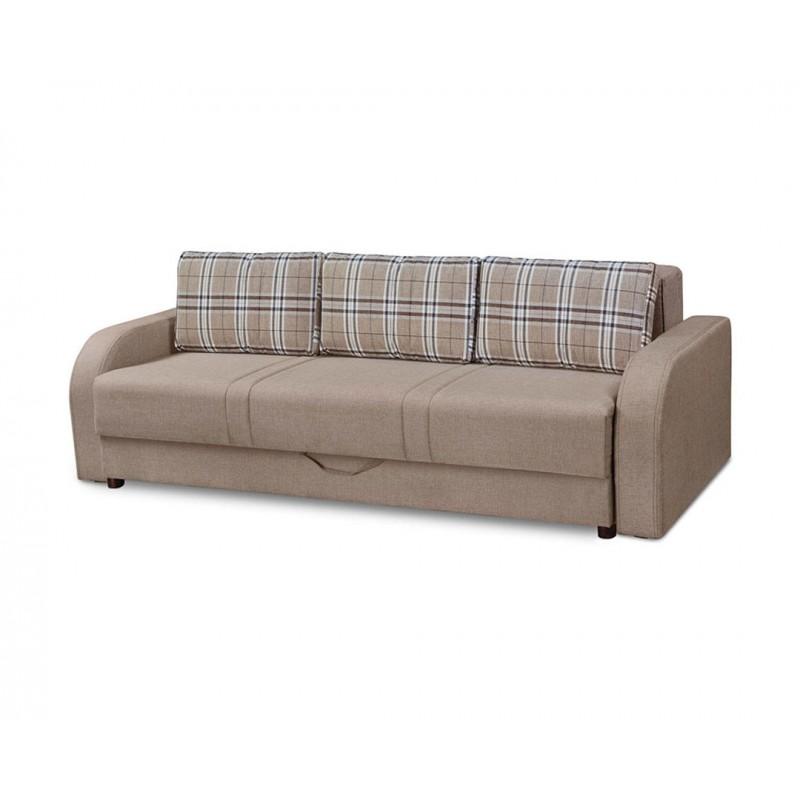 """Καναπές-κρεβάτι """"SRNA"""" τριθέσιος υφασμάτινος σε μπεζ χρώμα 230x103x82"""