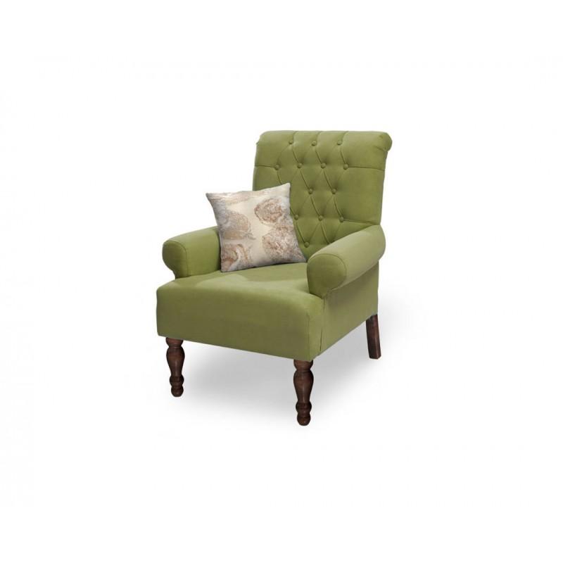 """Πολυθρόνα """"FLORA"""" υφασμάτινη σε λαχανί χρώμα 80x85x96"""