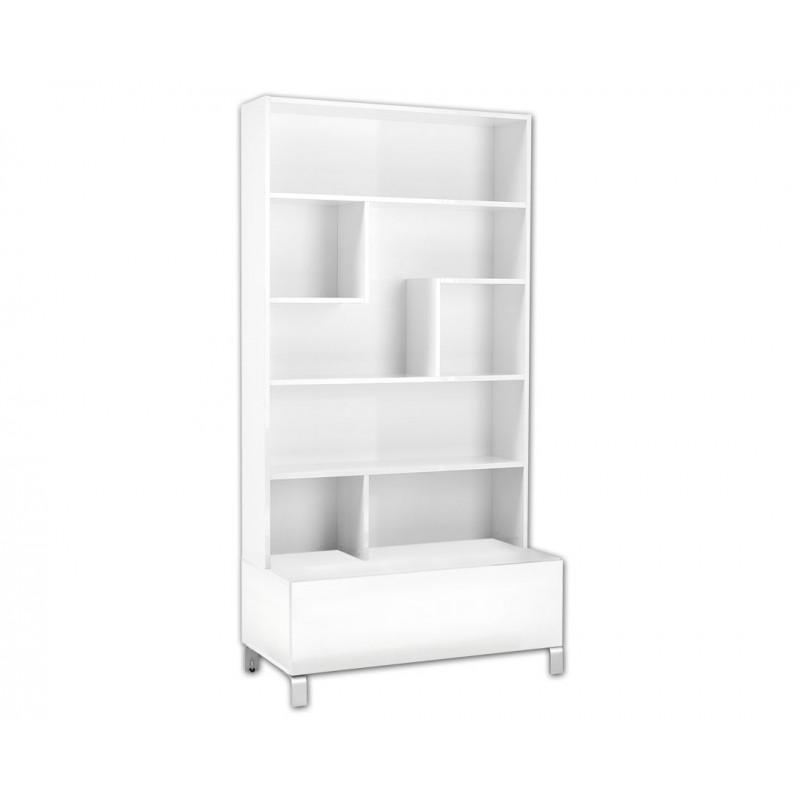 """Βιβλιοθήκη """"SHOWCASE OV1F"""" σε χρώμα λευκό 100x50x196"""