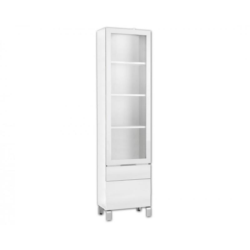 """Βιτρίνα """"GLASS SHOWCASE"""" σε χρώμα λευκό (λακα) 50x27x196"""