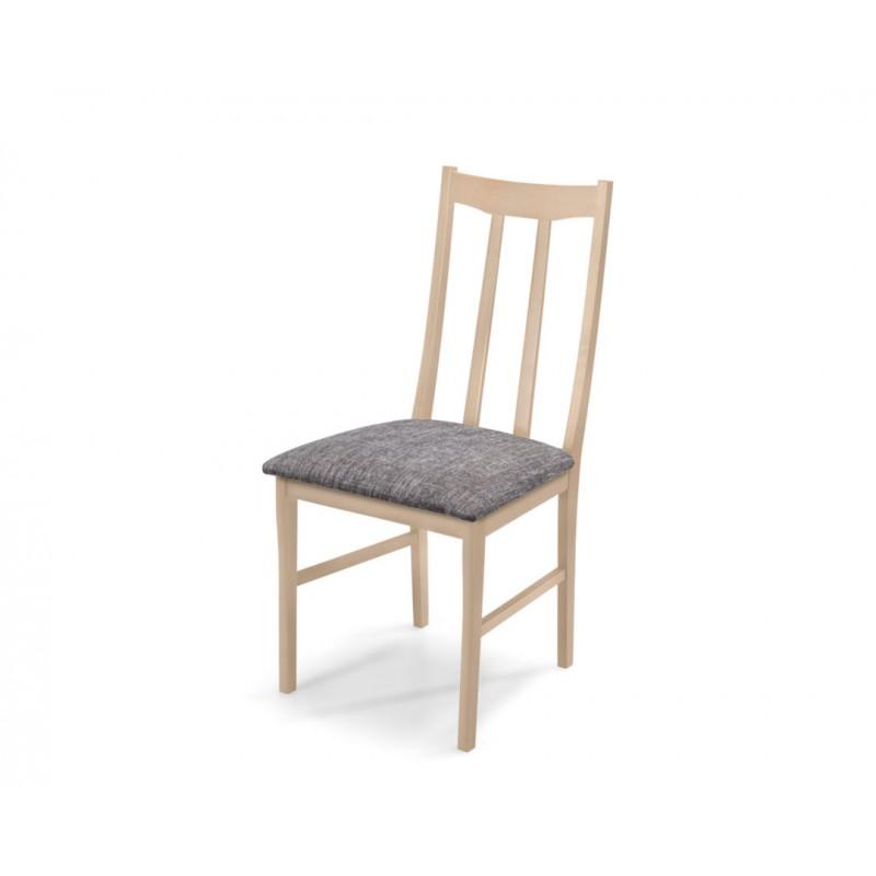 """Καρέκλα """"QUEEN"""" από ξύλο μασίφ σε χρώμα δρυς-γκρι 42x45x95"""