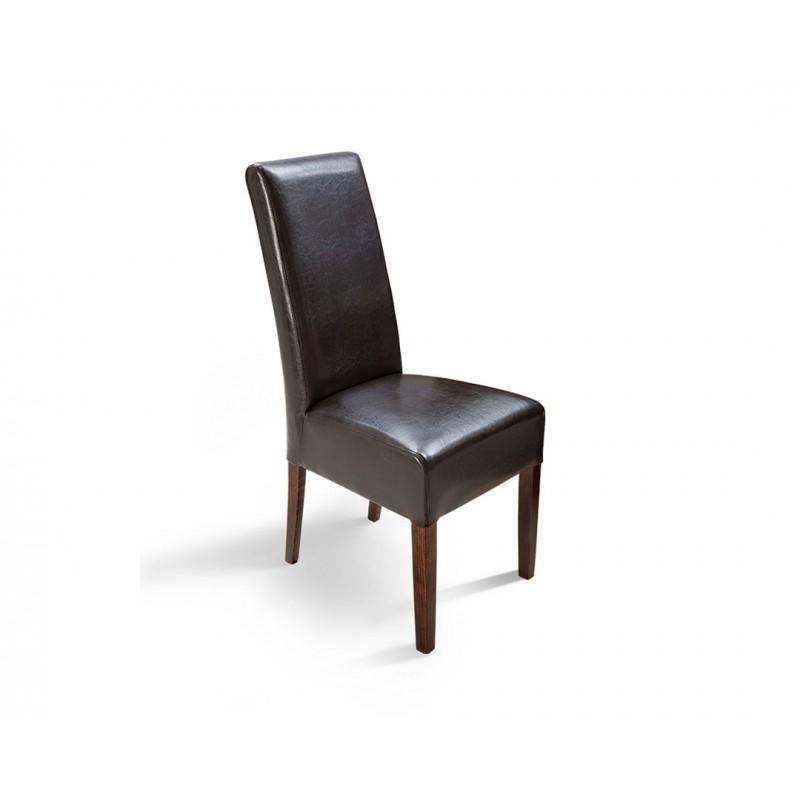 """Καρέκλα """"PALMA"""" από μασίφ ξύλο σε χρώμα βέγγε-καφέ 46x46x100"""