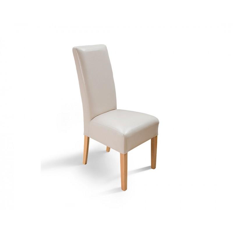 """Καρέκλα """"PALMA"""" από μασίφ ξύλο σε χρώμα οξιά-μπεζ 46x46x100"""