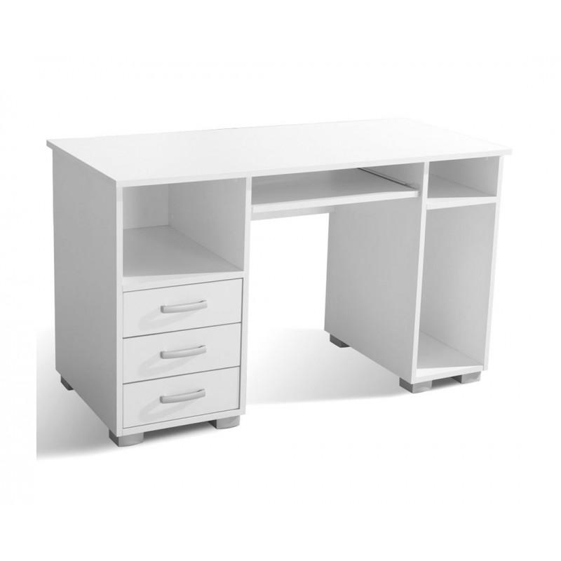 """Γραφείο υπολογιστή """"ANA 3F"""" σε χρώμα λευκό 130x60x75"""