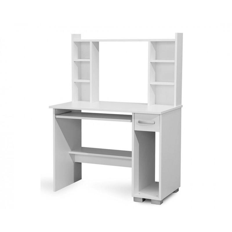 """Γραφείο υπολογιστή """"DIONIS"""" σε χρώμα λευκό 100x55x136"""