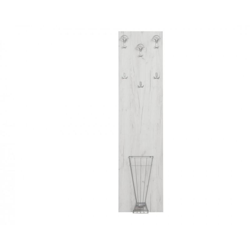 """Κρεμάστρα-έπιπλο εισόδου """"ATINA A2"""" σε χρώμα λευκό-δρυς 50x11.8x209"""