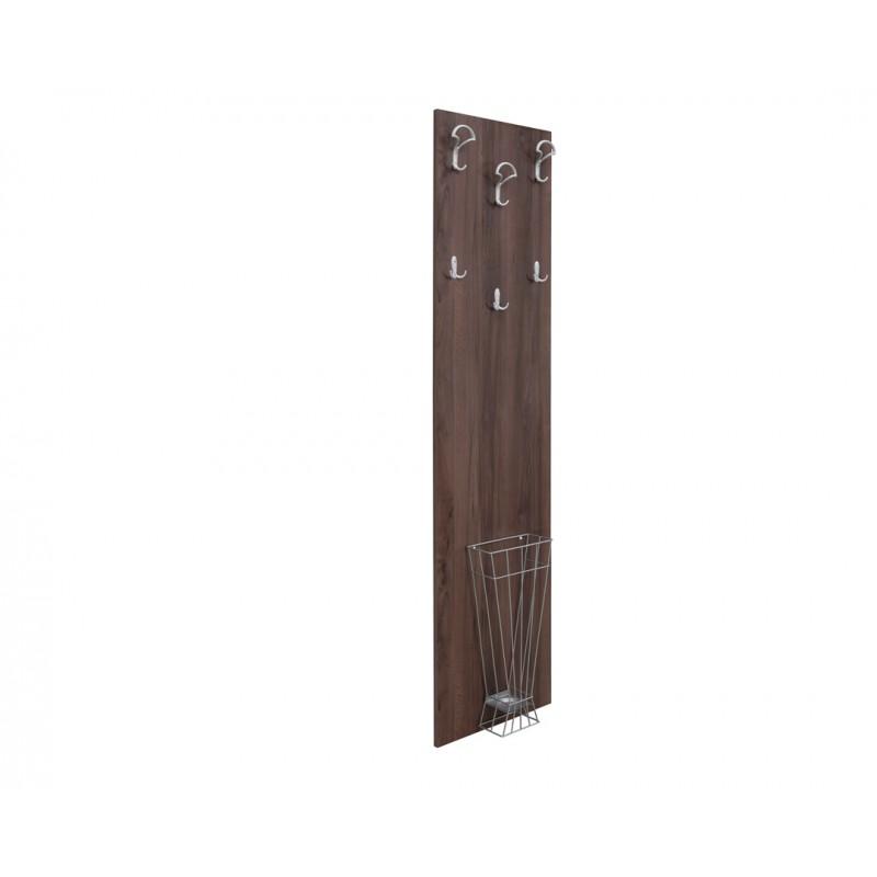 """Κρεμάστρα-έπιπλο εισόδου """"ATINA A2"""" σε χρώμα tobacco 50x11.8x209"""