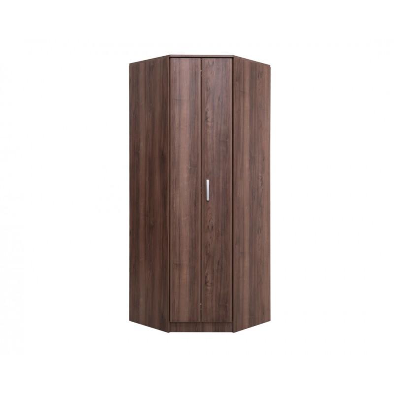 """Γωνιακή ντουλάπα """"FORTUNA"""" σε χρώμα tobacco 88/52x87/52x222"""