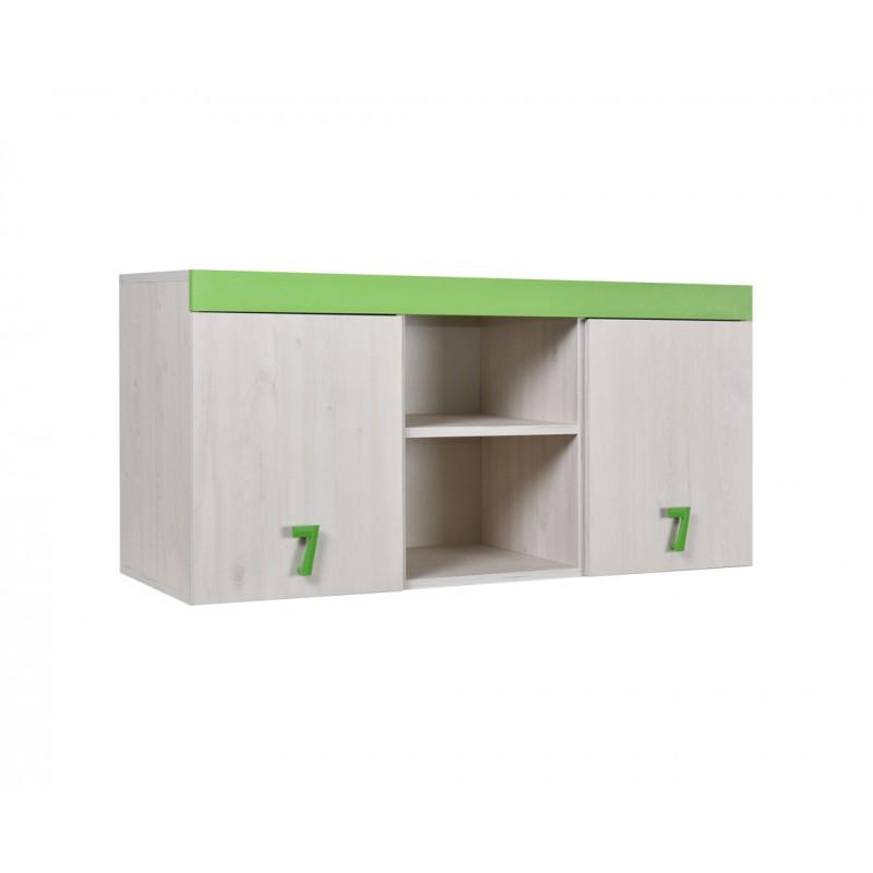 """Ραφιέρα γραφείου """"NUMERO"""" σε λευκό-πράσινο χρώμα 120x42x57,5"""