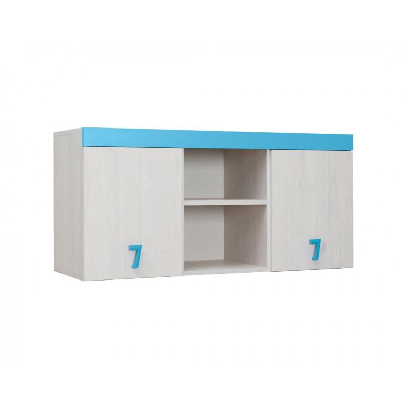 """Ραφιέρα γραφείου """"NUMERO"""" σε λευκό-μπλε χρώμα 120x42x57,5"""