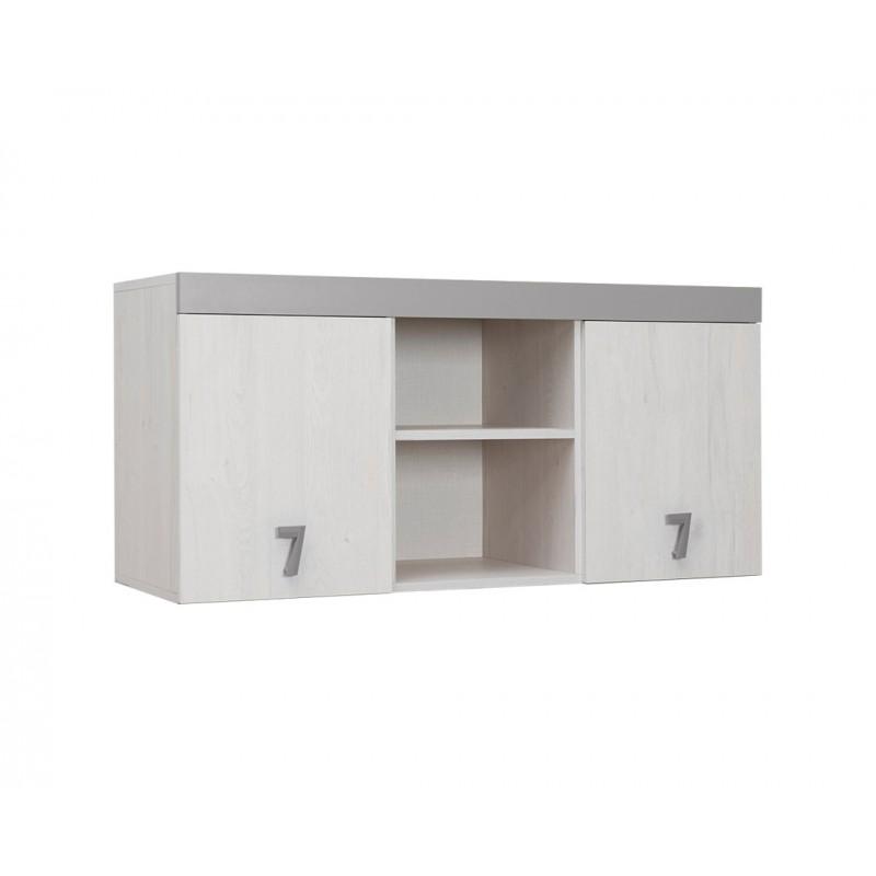 """Ραφιέρα γραφείου """"NUMERO"""" σε λευκό-γκρι χρώμα 120x42x57,5"""