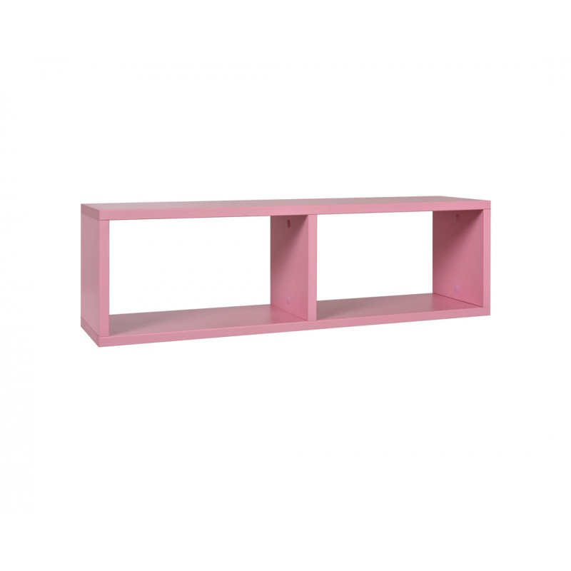 """Ράφι """"NUMERO"""" κρεμαστό σε ροζ χρώμα 80x20x23,5"""