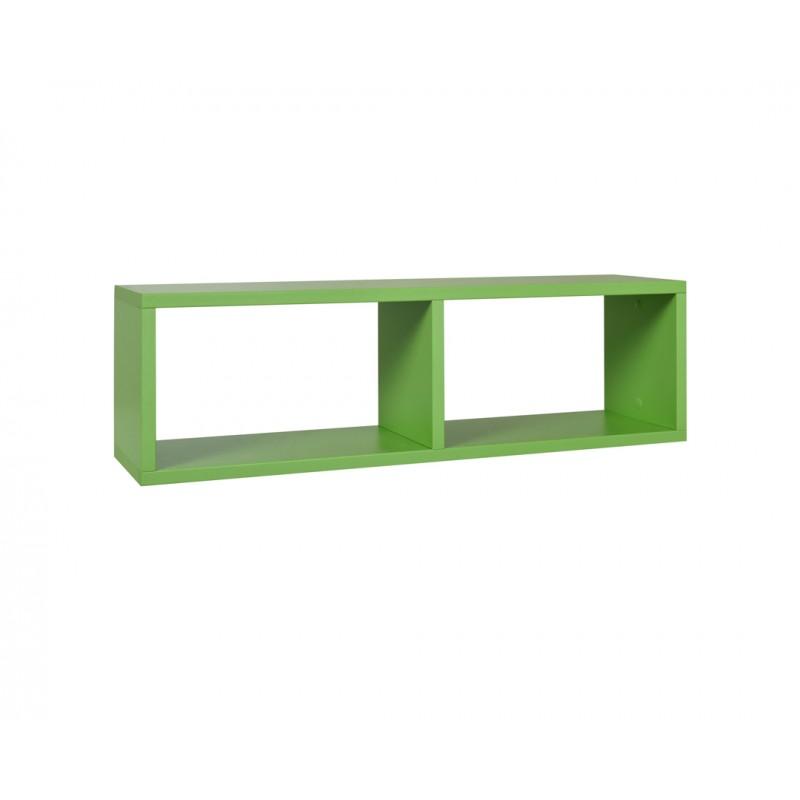 """Ράφι """"NUMERO"""" κρεμαστό σε πράσινο χρώμα 80x20x23,5"""