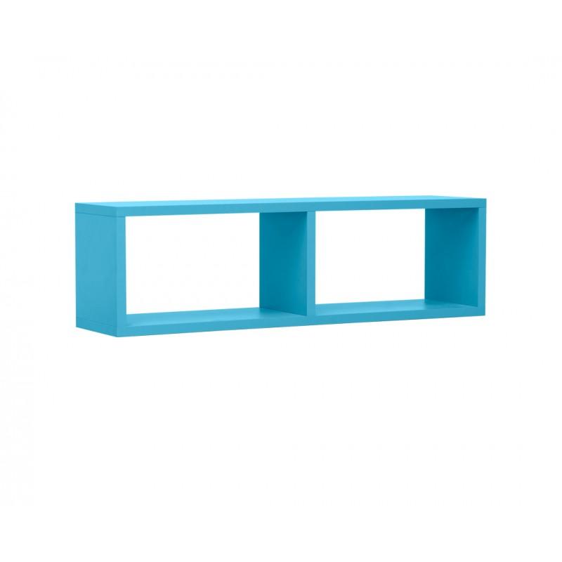 """Ράφι """"NUMERO"""" κρεμαστό σε μπλε χρώμα 80x20x23,5"""