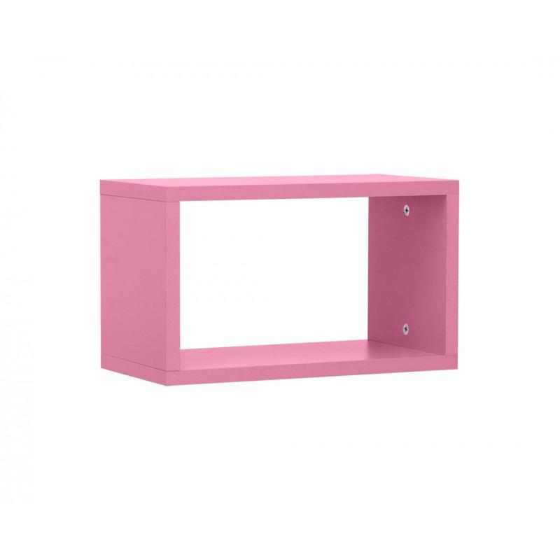 """Ράφι """"NUMERO"""" κρεμαστό σε χρώμα ροζ 40x20x23,5"""