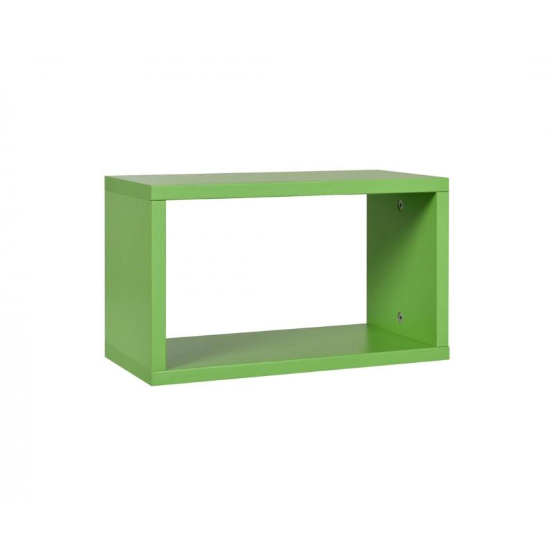 """Ράφι """"NUMERO"""" κρεμαστό σε χρώμα πράσινο 40x20x23,5"""