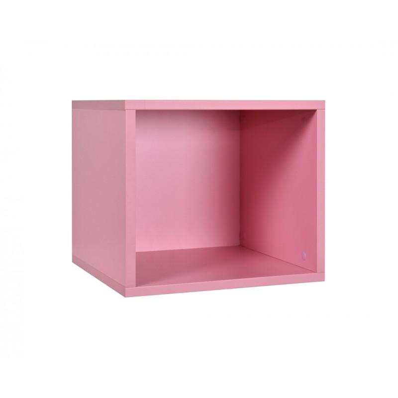 """Ράφι κασέτα """"NUMERO"""" σε χρώμα ροζ 36,5x40x35"""