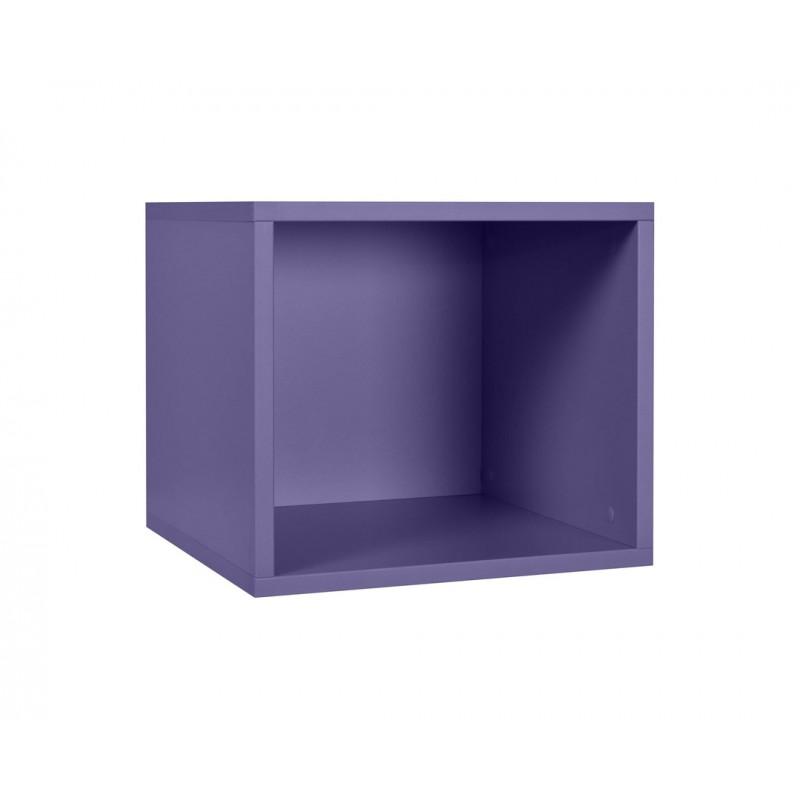 """Ράφι κασέτα """"NUMERO"""" σε χρώμα μωβ 36,5x40x35"""