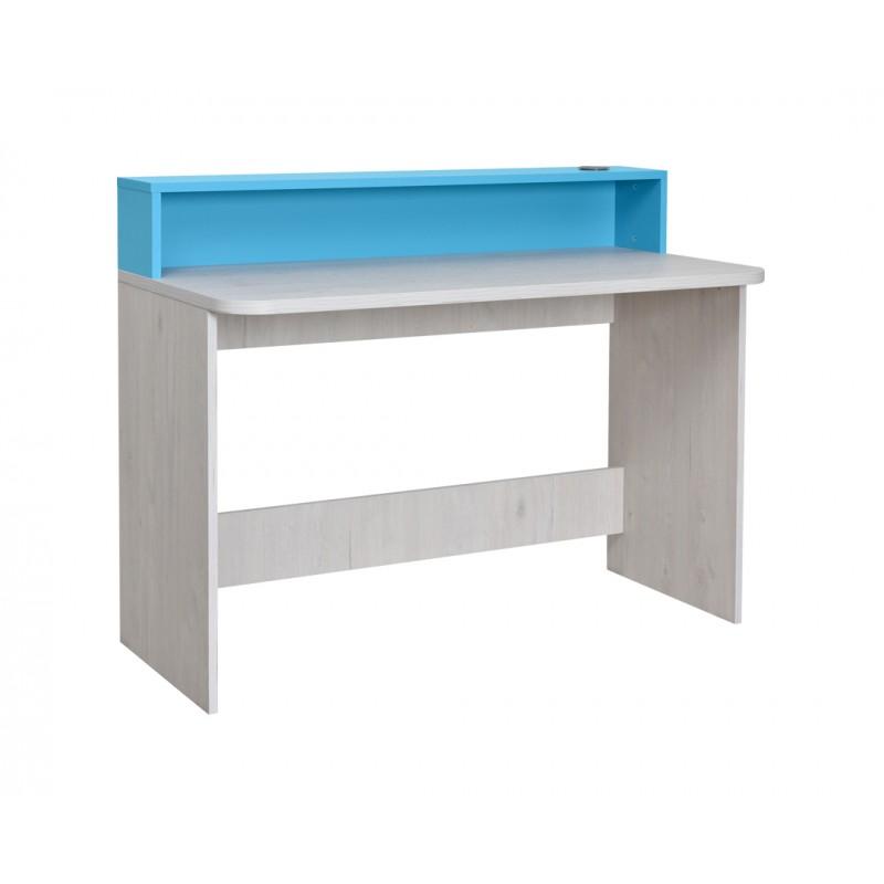 """Γραφείο εργασίας """"NUMERO"""" σε λευκό-μπλε χρώμα 120x60x75/93"""