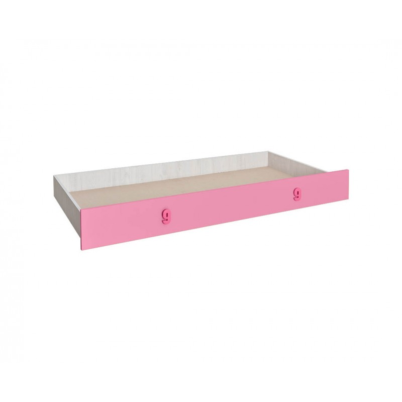 """Συρτάρι κρεβατιού """"NUMERO"""" σε ροζ χρώμα 199,5x94x23"""