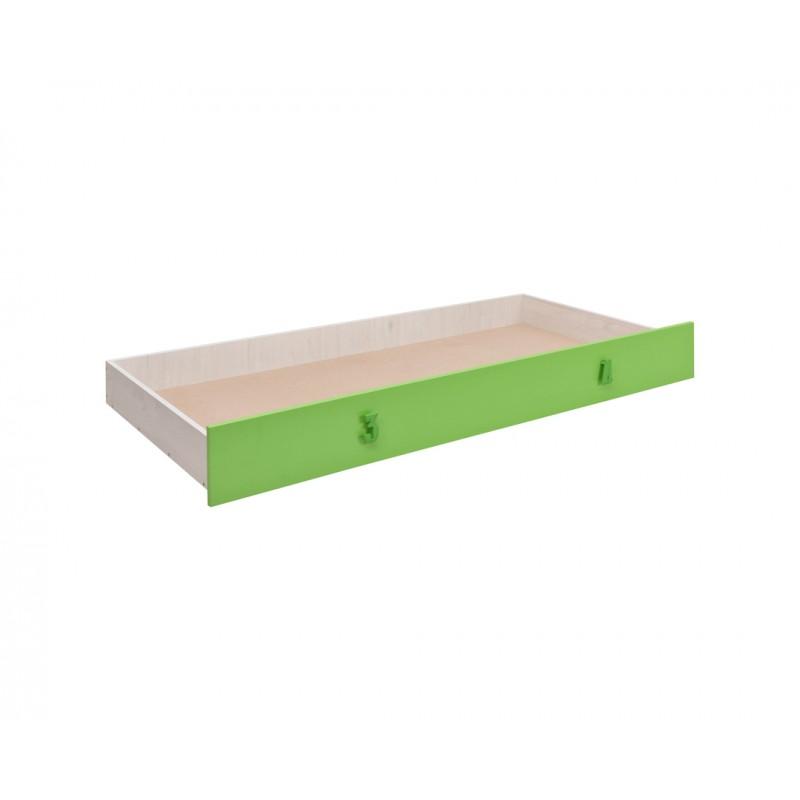 """Συρτάρι κρεβατιού """"NUMERO"""" σε πράσινο χρώμα 199,5x94x23"""