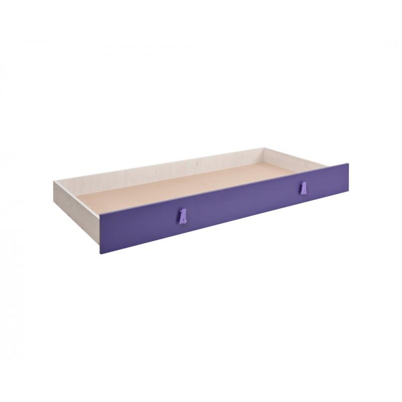 """Συρτάρι κρεβατιού """"NUMERO"""" σε μωβ χρώμα 199,5x94x23"""