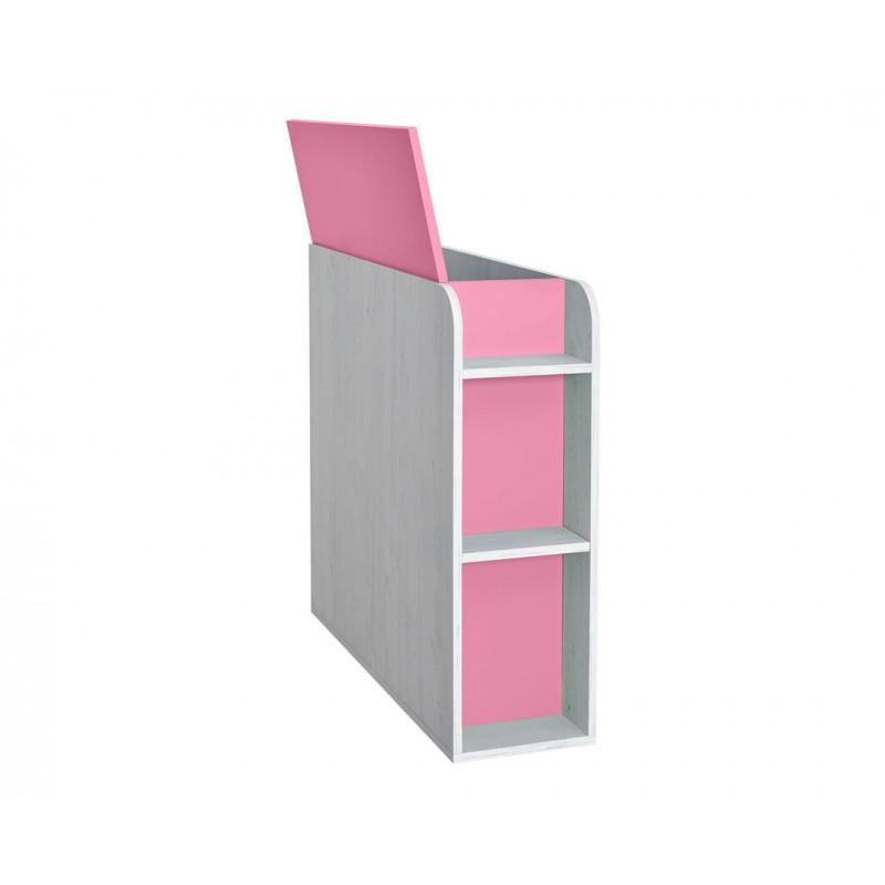 """Κουτί αποθήκευσης """"NUMERO"""" σε ροζ-λευκό δρυς χρώμα 30x102,5x92"""