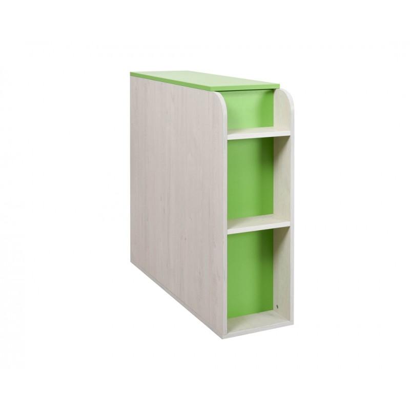 """Κουτί αποθήκευσης """"NUMERO"""" σε πράσινο-λευκό δρυς χρώμα 30x102,5x92"""