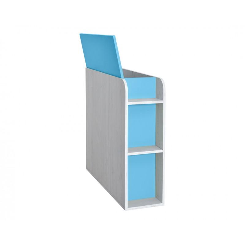 """Κουτί αποθήκευσης """"NUMERO"""" σε μπλε-λευκό δρυς χρώμα 30x102,5x92"""