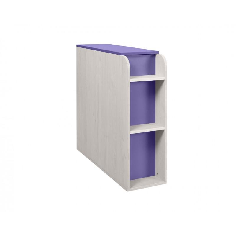 """Κουτί αποθήκευσης """"NUMERO"""" σε μωβ-λευκό δρυς χρώμα 30x102,5x92"""