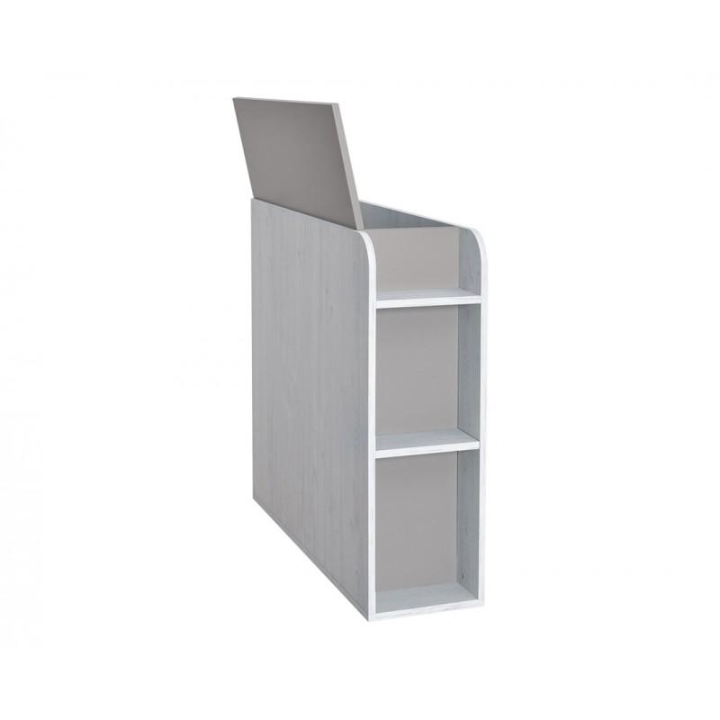 """Κουτί αποθήκευσης """"NUMERO"""" σε γκρι-λευκό δρυς χρώμα 30x102,5x92"""