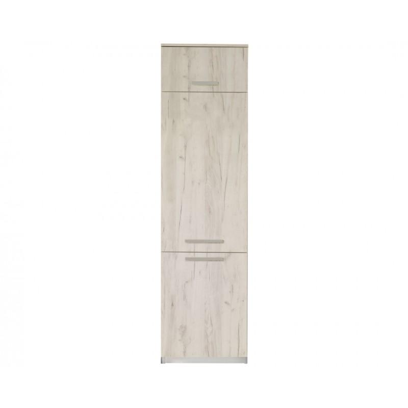 """Ντουλάπι ψυγείου """"ΙΝ"""" σε λευκό δρύς χρώμα 60x57x222"""
