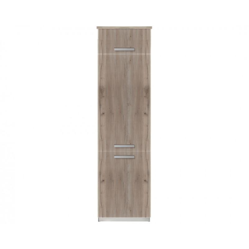 """Ντουλάπι ψυγείου """"ΙΝ"""" σε γκρι δρύς χρώμα 60x57x222"""