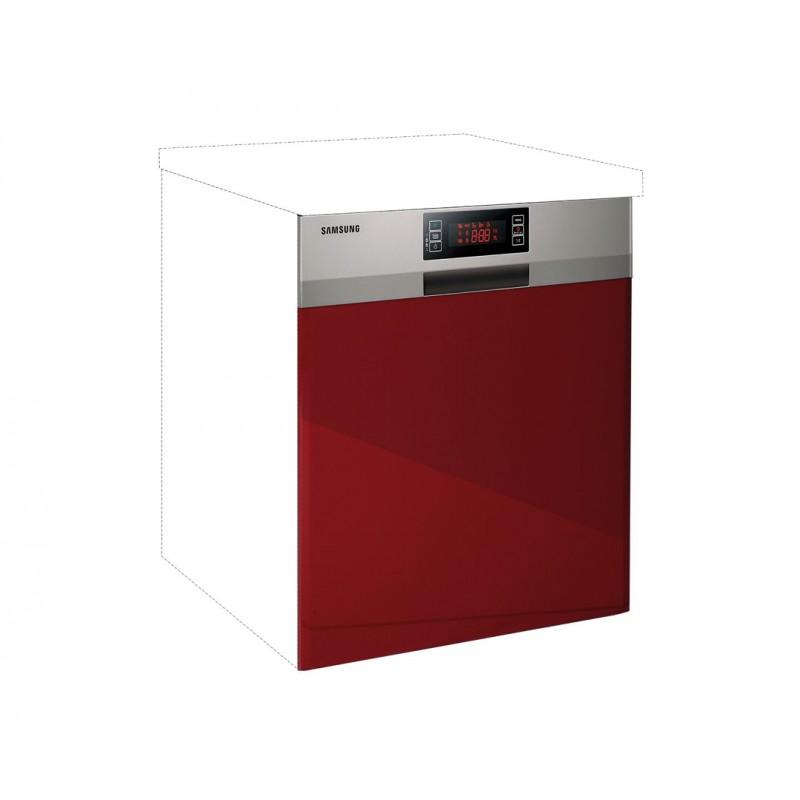 """Καλυπτικό πλυντηρίου πιάτων """"IN MDF"""" σε μπορντώ γυαλιστερό χρώμα 60χ60χ108"""