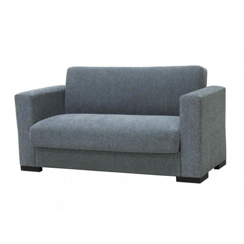 """Διθέσιος καναπές-κρεβάτι """"SILIO"""" από ύφασμα σε γκρι χρώμα 155x75x77"""