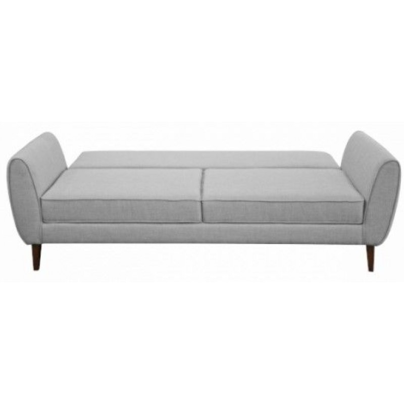 "Tριθέσιος καναπές-κρεβάτι ""CANDELA"" από ύφασμα σε γκρι χρώμα 237x94x86"