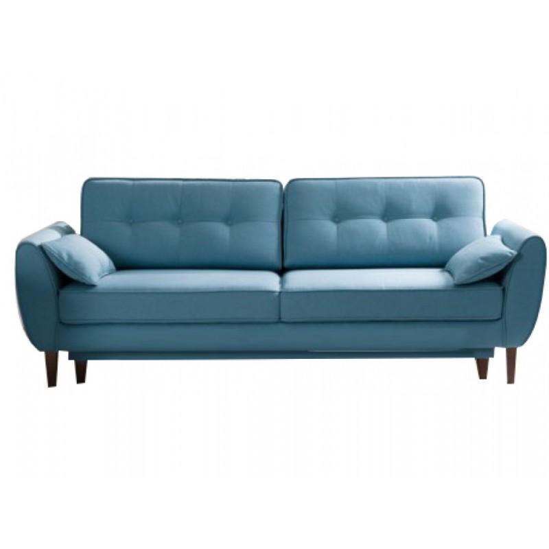 "Tριθέσιος καναπές-κρεβάτι ""CANDELA"" από ύφασμα σε πετρόλ χρώμα 237x94x86"