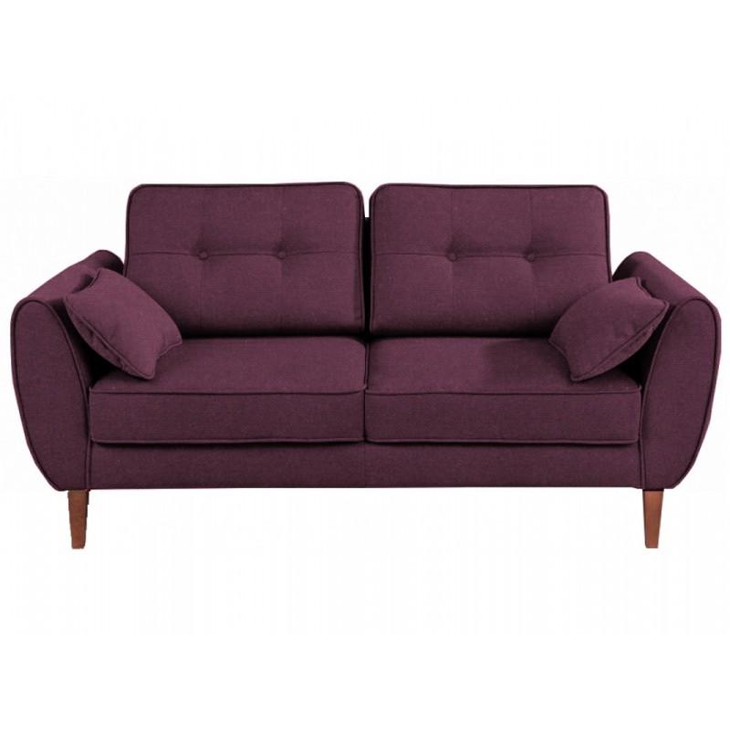 """Διθέσιος καναπές """"CANDELA"""" από ύφασμα σε βυσσινί χρώμα 184x94x86"""