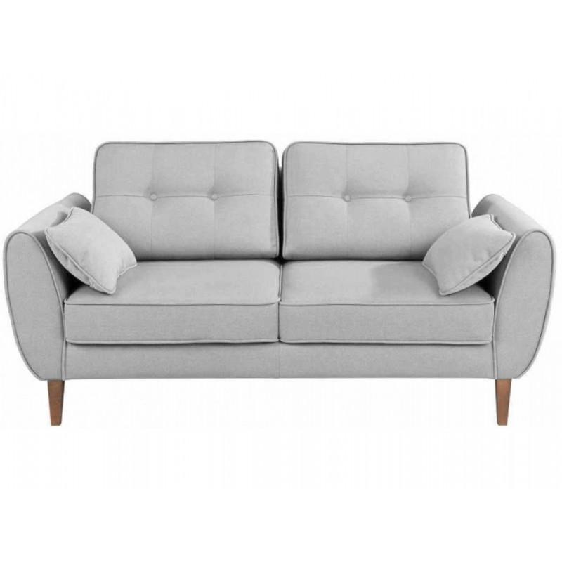 """Διθέσιος καναπές """"CANDELA"""" από ύφασμα σε γκρι χρώμα 184x94x86"""