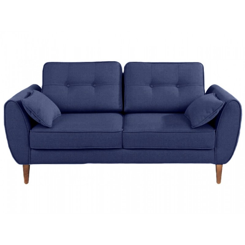 """Διθέσιος καναπές """"CANDELA"""" από ύφασμα σε μπλε χρώμα 184x94x86"""