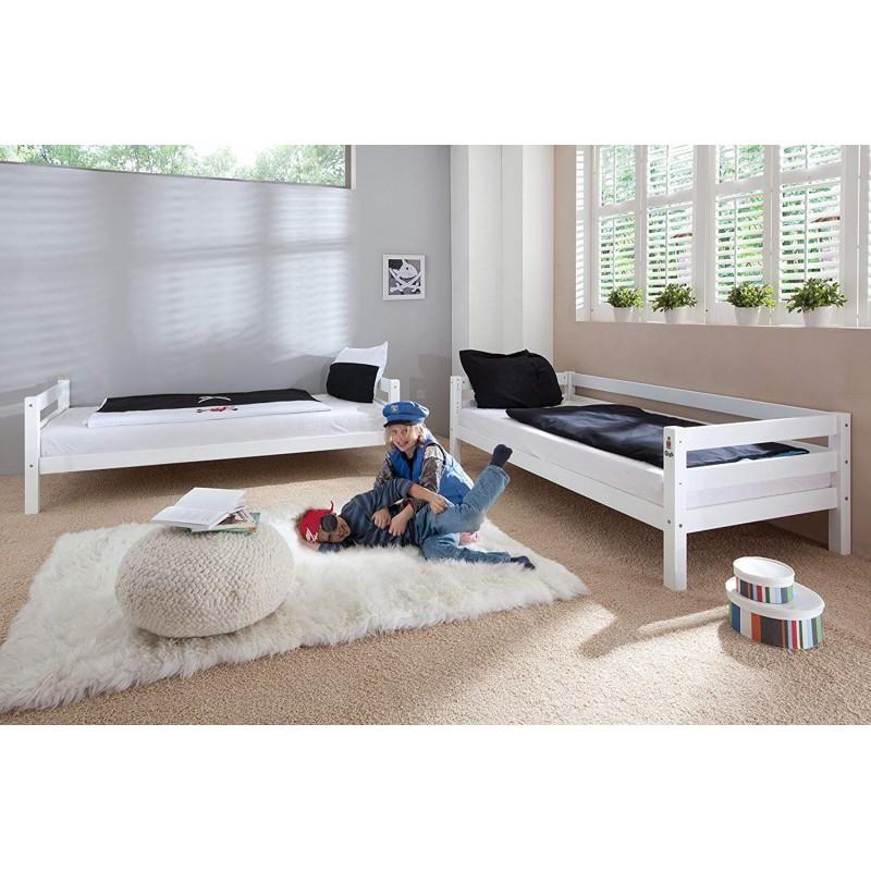 "Kουκέτα κρεβάτι ""BENEDICT"" με τσουλήθρα ξύλινη σε λευκό χρώμα 103x208x140"