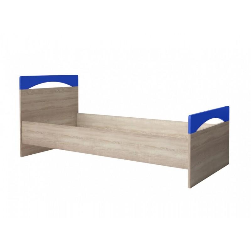 """Παιδικό κρεβάτι """"ΧΑΡΑ"""" σε φυσικό-μπλε χρώμα 90x200"""