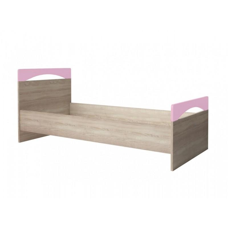 """Παιδικό κρεβάτι """"ΧΑΡΑ"""" σε φυσικό-ροζ χρώμα 90x200"""