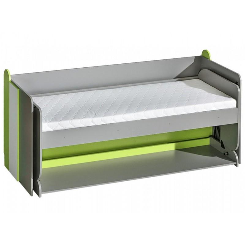"""Πολυμορφικό κρεβάτι-γραφείο """"FUTURO"""" σε λευκό-γκρι-πράσινο χρώμα 214x96x120"""